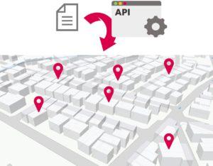 緯度経度付与APIのイメージ
